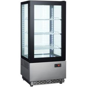 Витрина холодильная настольная, вертикальная, L0.43м, 3 полки, 0/+12С, дин.охл., черная, 4-х стороннее остекление