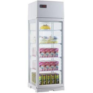 Витрина холодильная настольная, вертикальная, L0.39м, 4 полки, 0/+12С, дин.охл., белая, 4-х стороннее остекление