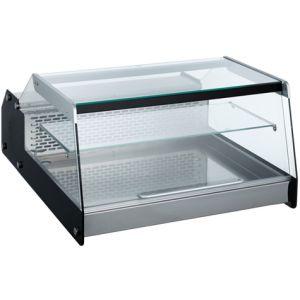 Витрина холодильная настольная, горизонтальная, L0.69м, 1 полка, 0/+12С, чёрная, 1 дверца фронтальная