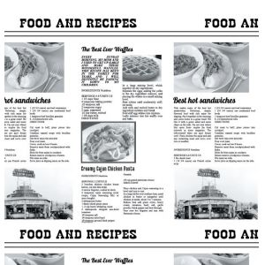 Уголок для гамбургера 150x150мм Газета бумага