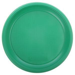 Тарелка 210мм столовая пластик зелёный, 50шт