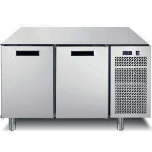 Стол холодильный, GN1/1, L1.26м, без столешницы, 2 двери глухие, ножки, -2/+7С, нерж.сталь, дин.охл., агрегат справа