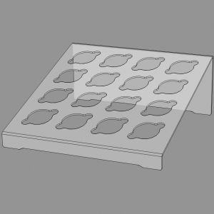 Подставка для соусов funfood, прозрачный пластик