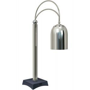 Станция карвинговая, 1 лампа, никель,черная подставка