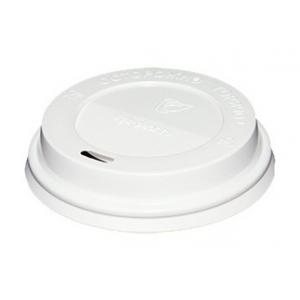 Крышка для стакана 165/185мл D 73мм пластик белый без носика