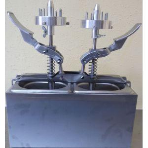 Дозатор начинок для пончиков, механический, 2 насадки с 8 иглами, 2GN1/6 нерж.сталь, на две начинки