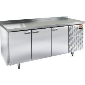 Стол холодильный, GN1/1, L1.84м, борт H50мм, 3 двери глухие, ножки, -2/+10С, пластификат, дин.охл., агрегат правый, столешница нерж.сталь