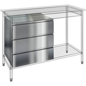 Ящик для столов производстенных открытых глубиной 600мм, комплект 3шт.
