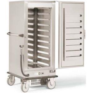 Термоконтейнер охлаждаемый передвижной, 1 дверь глухая, 10GN2/1-100, колеса, -12/+8С, нерж.сталь