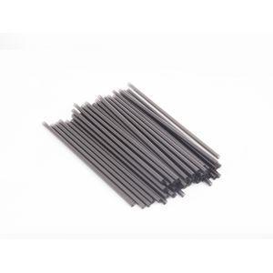 Трубочки для напитков прямые D 5мм L 210мм пластик черные, 1000 шт