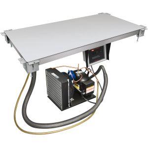 Поверхность охлаждаемая, встраиваемая, 1219х610мм, алюминий, установка под столешницу из кварца или гранита