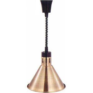 Лампа-мармит подвесная, бронзовая, регулир.шнур чёрный, D270мм