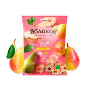 Чипсы грушевые натуральные «Яблоков», коробка (30 пакетов по 25г.)