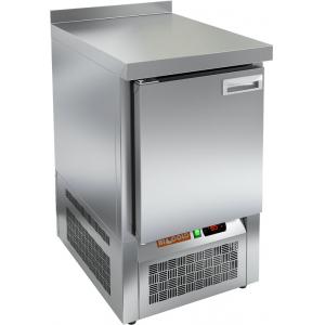 Стол морозильный, GN2/3, L0.57м, борт H50мм, 1 дверь глухая, ножки, -10/-18С, нерж.сталь, дин.охл., агрегат нижний