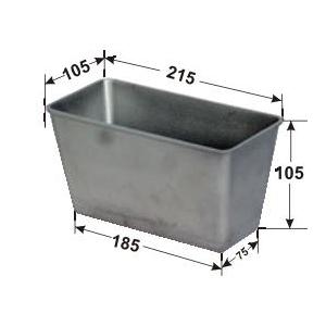 Форма для выпечки хлеба L 21,5см w 10,5см h 10,5см 3 секции без ручек, алюминий
