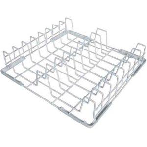 Корзина посудомоечная для тарелок, 400х400мм, проволока, покрытие из рилсана, вместимость 8 штук