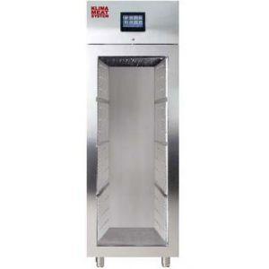Шкаф для созревания мяса,  700л, 1 дверь стекло, 4 полки, ножки, -1/+10C, дин.охл., 4 пары направляющих, нерж.сталь