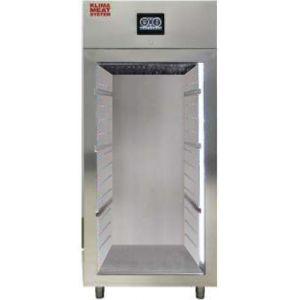 Шкаф для созревания мяса,  800л, 1 дверь стекло, 4 полки, ножки, -1/+10C, дин.охл., 4 пары направляющих, нерж.сталь
