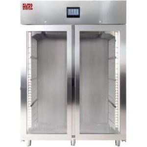 Шкаф для созревания мяса, 1500л, 2 двери стекло, 10 полок, ножки, -1/+10C, дин.охл., 10 пар направляющих, нерж.сталь