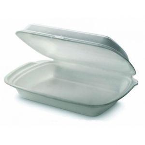 Контейнер-ланчбокс 750мл вспененный полистирол белый