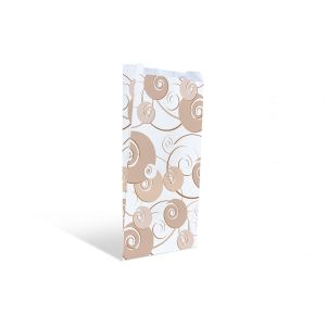 Пакет бумажный 300х170х70мм плоское дно с дизайном