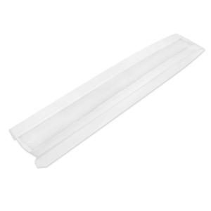 Пакет бумажный 640х100х50мм с окном плоское дно белый