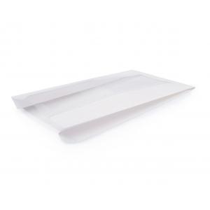 Пакет бумажный 340х200х60мм с окном плоское дно белый