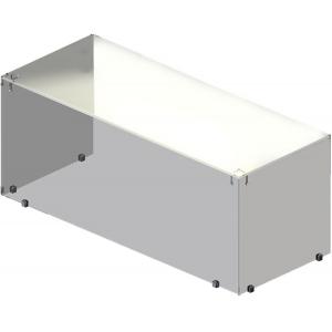 Полка настольная для модулей Light, 1100х300х400мм, стеклянный купол-куб