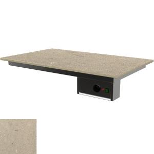 Поверхность тепловая встраиваемая,  800х600мм, +30/+80С, искусств.камень Jura Grey BQ-8437
