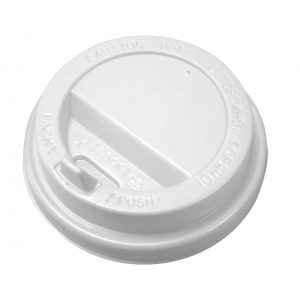 Крышка для стакана 150/170мл D 70мм пластик белый с носиком
