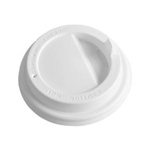 Крышка для стакана 165/185мл D 73мм пластик белый с носиком