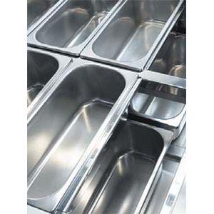 Лоток для мороженого, 250х360х80мм, нерж.сталь