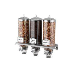 Диспенсер для сыпучих продуктов 6л L 54см w 18см h 48см тройной CLASSIX, пластик/нерж.сталь