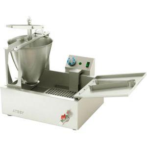 Аппарат пончиковый полуавтоматический, 200шт/ч, ванна 16л, нерж.сталь, объем пончика 24-26г, кран для слива масла
