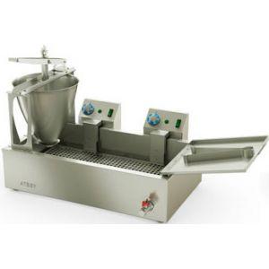 Аппарат пончиковый полуавтоматический, 300шт/ч, ванна 23л, нерж.сталь, объем пончика 24-26г, кран для слива масла