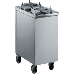 Диспенсер для тарелок нейтральный, 2х50шт. D180/240мм, колёса, нерж.сталь