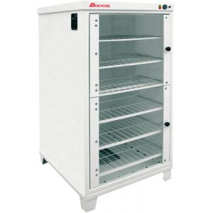 Шкаф расстоечный для печи ХПЭ-500 и ХПЭ-750, 144хЛ7,  2 двери распашные стекло, +30/+45С, белый, 220V, ножки, электромех.упр., увлажнение