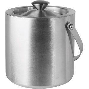 Емкость для льда и охлаждения бутылок D 15,5см h 15,5см 1,85л с крышкой, нерж.сталь