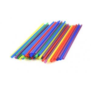 Трубочки для напитков прямые D 5мм L 210мм пластик цветные, 1000 шт