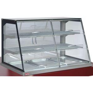 Витрина тепловая встраиваемая, горизонтальная, для самообслуживания, L1.08м, 2 полки стекло, +30/+85С, нерж.сталь, подсветка, 3GN1/1