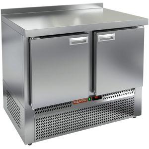 Стол морозильный, GN2/3, L1.00м, борт H50мм, 2 двери глухие, ножки, -10/-18С, нерж.сталь, дин.охл., агрегат нижний