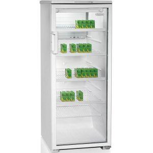 Шкаф холодильный,  290л, 1 дверь стекло, 4 полки, ножки, +1/+10С, стат.охл., белый, R134а