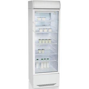 Шкаф холодильный,  310л, 1 дверь стекло, 5 полок, ножки, +1/+10С, стат.охл., белый, R134а, агрегат нижний, канапе