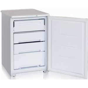 Шкаф морозильный бытовой,   99л, 1 дверь глухая, 1 полка, 3 ящика, -18С, белый, R134a, ручка горизонтальная