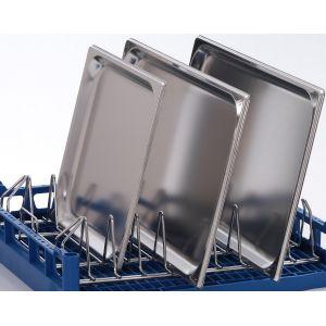 Вставка в посудомоечную корзину L для противней и подносов для машин посудомоечных PT, GS 630, STR, MTR, 9 рядов, нерж.сталь
