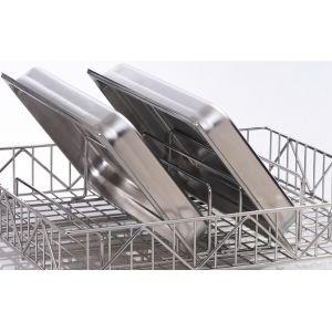 Вставка в посудомоечную корзину S, M, L, XL для противней и подносов для машин посудомоечных UF-M, UF-L, UF-XL, GS 630, 5 рядов, нерж.сталь