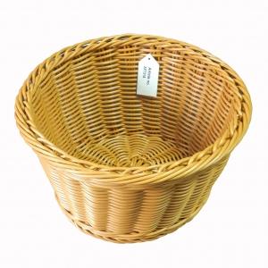Корзина D 26см h 15см плетеная, полиротанг коричневый (B22B)