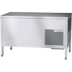 Стол холодильный, L1.40м, без борта, 2 двери-купе, ножки, +1/+10С, нерж.сталь, агрегат слева, столешница охлаждаемая