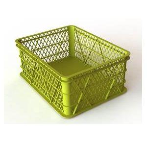 Ящик L 43см w 33см h 18см ягодный перфорированный, пластик зеленый