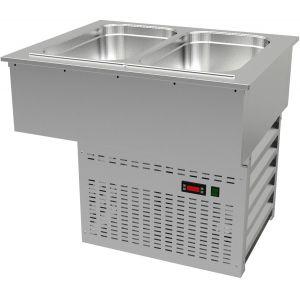 Ванна холодильная встраиваемая, L0.76м, 2GN1/1, 0/+8С, нерж.сталь